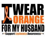 I Wear Orange For My Husband Leukemia Shirts