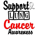 Support Lung Cancer Awareness Retro Style T-Shirts