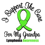 I Support The Cure For My Grandpa Lymphoma Shirts