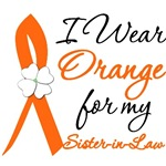 I Wear Orange Flower Sister-In-Law Leukemia Shirts