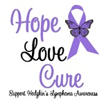 Hodgkin's Lymphoma Hope Love Cure Shirts & Gifts