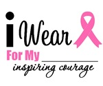 I Wear Pink Ribbon Inspiring Courage Shirts & Gift
