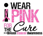 I Wear Pink For The Cure T-Shirts & Gifts