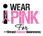 I Wear Pink Breast Cancer Awareness Tees