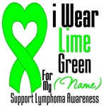 I Wear Lime Green Heart Ribbon T-Shirts