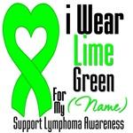 I Wear Lime Green Heart Ribbon T-Shirts