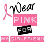I Wear Pink Ribbon For My Girlfriend Label Shirts