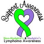 Support Awareness Lymphoma Dual Ribbon Shirts