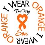 I Wear Orange Ribbon Son Leukemia Shirts