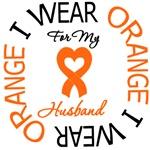 I Wear Orange Husband Leukemia Shirts