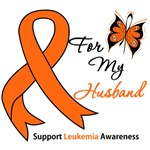 Leukemia Ribbon For My Husband Shirts & Gifts
