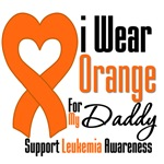 Leukemia I Wear Orange For My Daddy Shirts