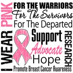 Breast Cancer Pink Ribbon Tribute Shirts and Gifts