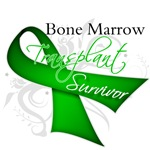 Ribbon Bone Marrow Transplant Survivor Shirts