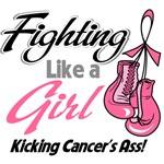 Fighting Like a Girl Breast Cancer Shirts
