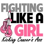 Fighting Like a Girl Breast Cancer Shrits