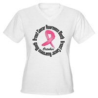 Breast Cancer Month Pink Grunge Ribbon Shirts