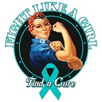 Rosie Fight Like a Girl Ovarian Cancer Shirts
