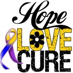 Hope Love Cure Bladder Cancer Shirts