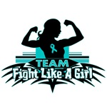 Team Fight Like a Girl Ovarian Cancer Shirts