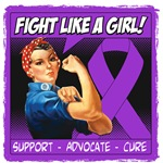 Rosie The Riveter Fight Like Girl Lupus Shirts