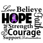 Love Hope Believe Lupus Collage Style Shirts