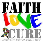 Faith Love Cure Autism Shirts and Gifts