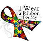 For My Hero Autism Ribbon Shirts and Gifts
