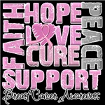 Hope Cure Collage Breast Cancer Shirts