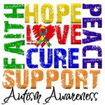 Collage Hope Cure Autism Shirts