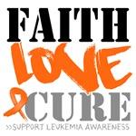 Faith Love Cure Leukemia Shirts and Gifts