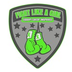 Lymphoma Emblem Fight Like a Girl Shirts
