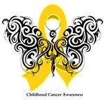 Childhood Cancer Tribal Butterfly Shirts