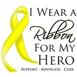 I Wear a Ribbon For My Hero Sarcoma Shirts