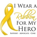 Childhood Cancer I Wear a Ribbon For My Hero Shirt