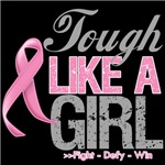 Tough Like a Girl Breast Cancer Shirts