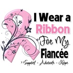Fiancee Pink Ribbon Breast Cancer Shirts
