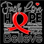 Faith Hope Blood Cancer Shirts