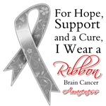 Brain Cancer For Hope Support and Cure Shirts