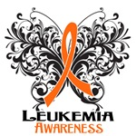Butterfly Floral Leukemia Shirts and Gifts