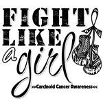 Fight Like a Girl Carcinoid Cancer Shirts
