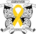 Childhood Cancer Survivor Butterfly Shirts