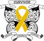 Appendix Cancer Survivor Butterfly Strength Shirts