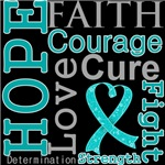 Hope Faith Courage Peritoneal Cancer Shirts