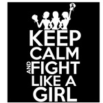 Skin Cancer Keep Calm and Fight Like a Girl