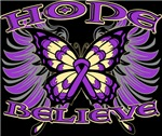 Hope Believe Butterfly Alzheimers Disease Shirts