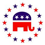 Classic Republican Elephant Logo
