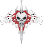 Sword Skull - RED