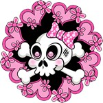 Cute Skull and Hearts