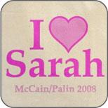 I Heart Sarah Pink